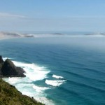 View of Te Werahi beach from Cape Reinga