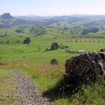 View of sacred Taratara rock from the farm